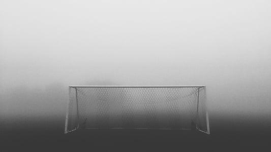 futbol, objectiu, esport, futbol, joc, competència, camp