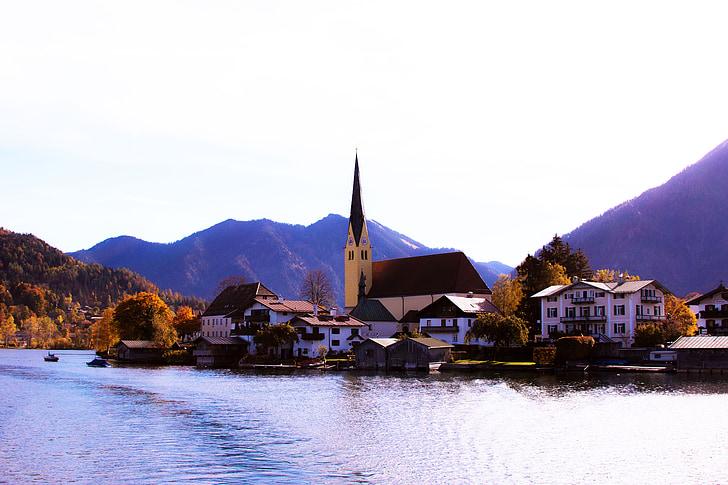 Tegernsee, Bayern, høst, landskapet, ferie, fjell, natur