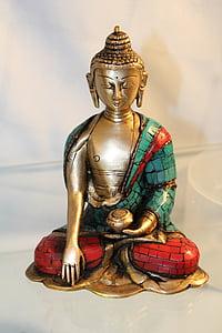 Buddha, sochařství, umění, socha, obrázek, fernöstlich, božstvo