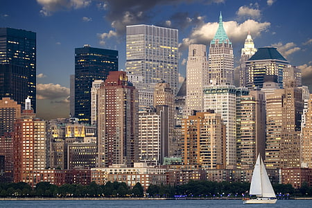new york, Skyline, Manhattan, Hudson, skyskrapa, Urban, new york city