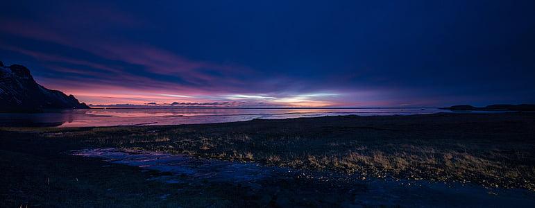 sončni vzhod, Islandija, nebo, krajine, islandščina, Panorama, sončni zahod