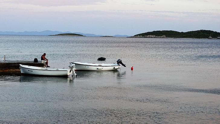 boats, fisherman, ocean, sea, seashore, water, watercrafts
