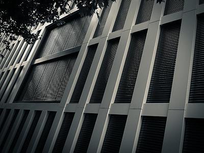 arhitektuur, terasest, hoone, klaas, Ehitus, metallist, Moodne arhitektuur