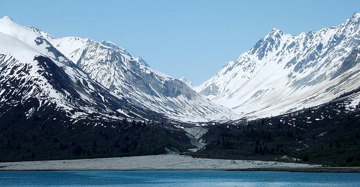 muntanya, glacera, gel, neu, Badia de la glacera, paisatge, escèniques