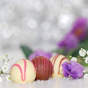 chocolates, white chocolate, chocolate, nibble, sweetness, gourmet, sweet