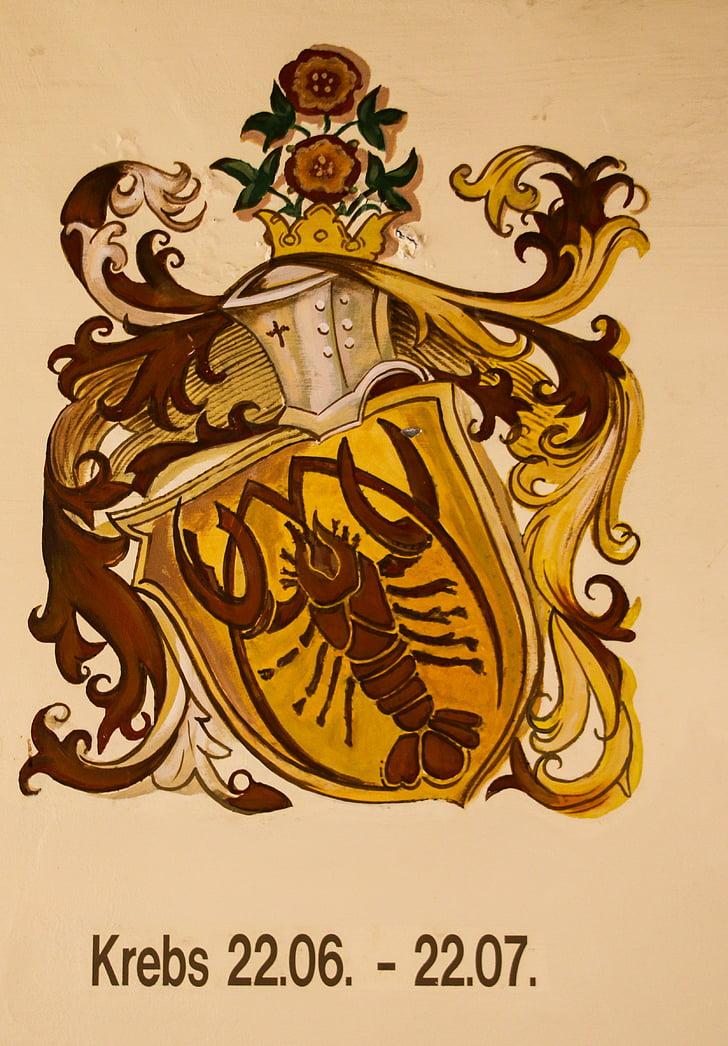 sterrenbeeld, Horoscoop, Astrologie, kanker, tekens van de dierenriem, symbool, sierlijke