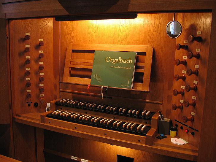 kyrkan, orgel, orgel bank, instrumentet, klaverinstrument, kyrkorgel, musik