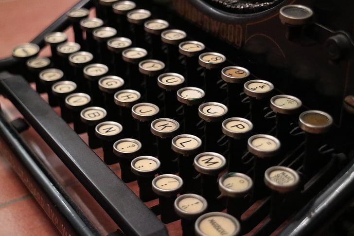 vintage, typewrite, retro, typewriter, old-fashioned, old, retro Styled