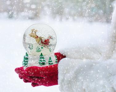 globo della neve, Natale, neve, globo, inverno, palla, Xmas