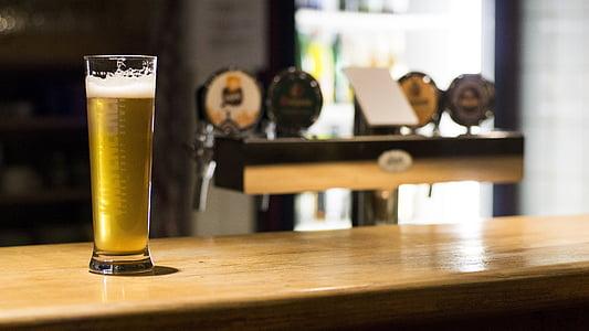 pivo, pub, bar, piće, Tablica, pivo - alkohol, u zatvorenom prostoru
