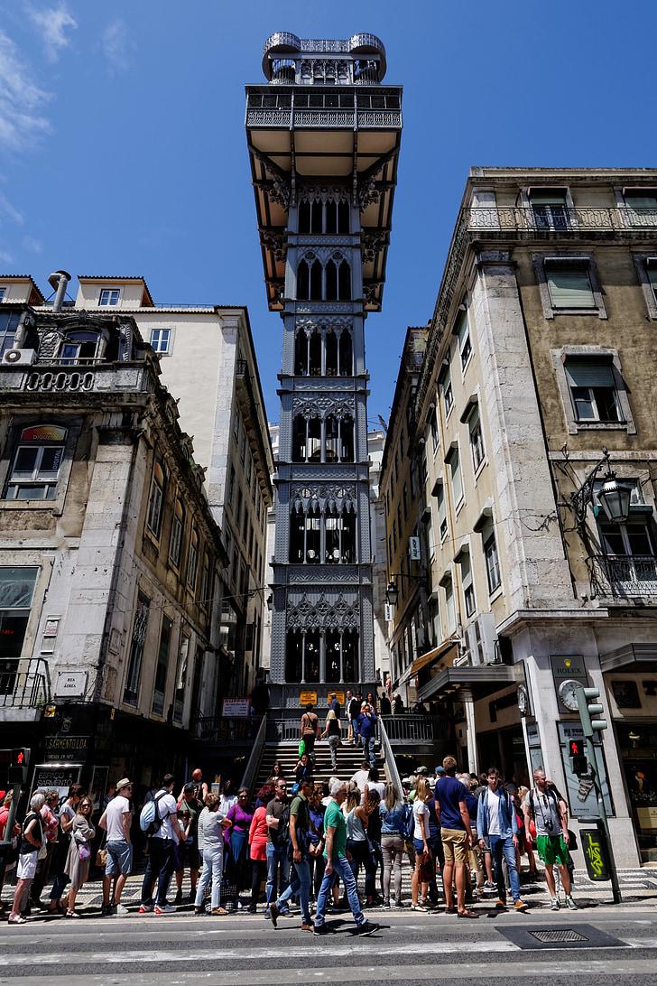 Lift, Lisszabon, Portugália, Európa, óváros