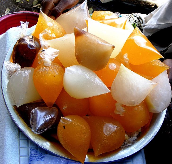 pop-ice, glass, fryst, efterrätt