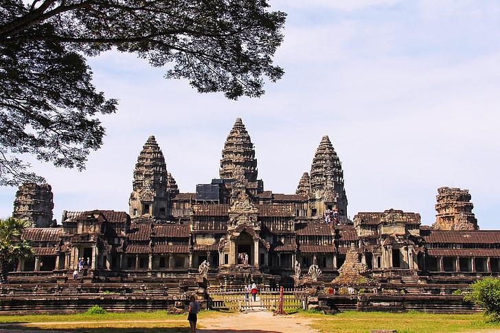 Angkor Wat Tempel, erstaunlich, sieben Weltwunder, Frage mich, Antike, Welt, Tempel
