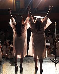 дипломирането, дипломирането капачка, образование, училище, степен, започване, шапка за завършване