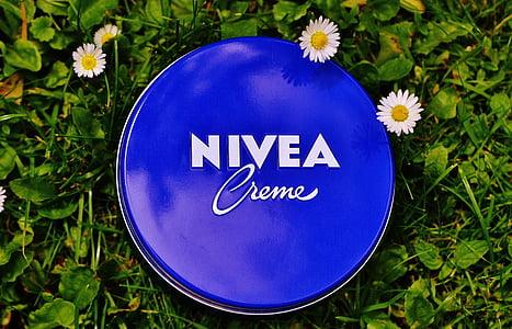 crème, flore, fleurs, herbe, crème hydratante, NIVEA, soins de la peau