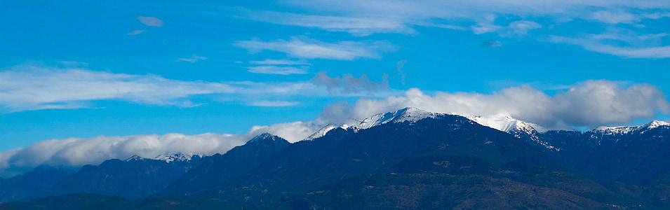 lumi, sinine, Travel, hooaja, mägi