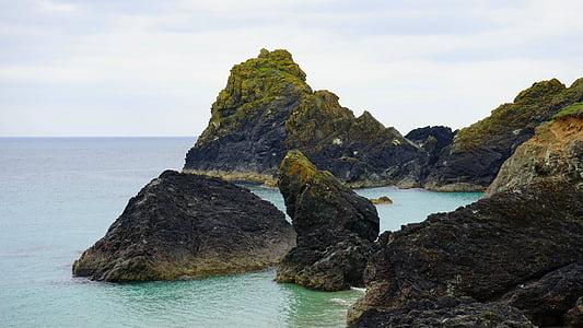 óceán, sziklák, tenger, Sky, táj, természet, tengerparti
