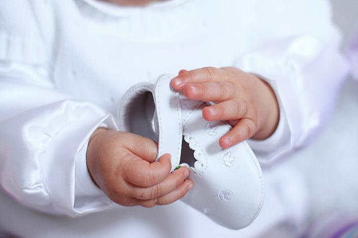 bedrijf handen, baby, houden, handen, kinderen, houden handen, dochter