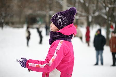 street, kids, games, snow, gorka, sled, kid