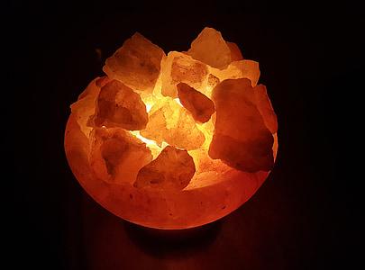 soola kristallid, soola kristall lamp, kristallid, kivi, oranž, tervise, Wellness