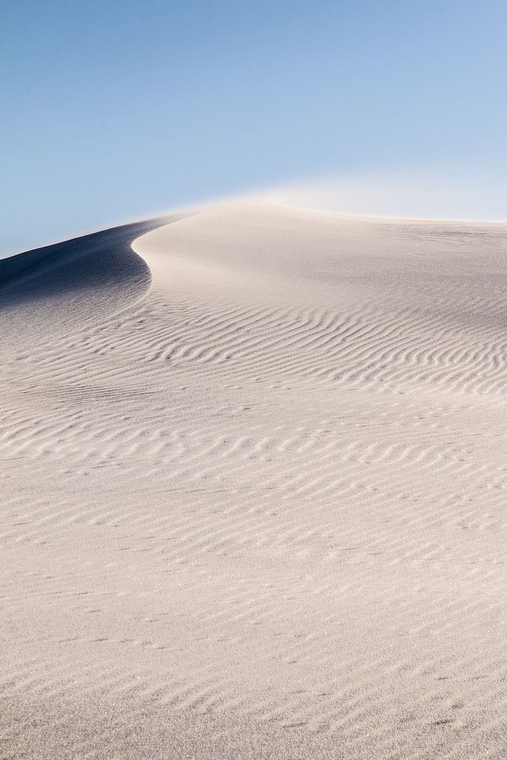 wehenden sand, weiß, landschaftlich reizvolle, Landschaft, windig, Himmel, Wolken