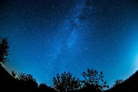 Calea Lactee, cerul înstelat, cer, Star, cerul de noapte, spaţiu, noapte