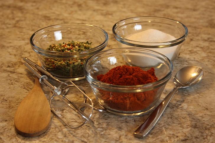 especia, cocina, especias y hierbas, fresco, cocinar, cena, menú