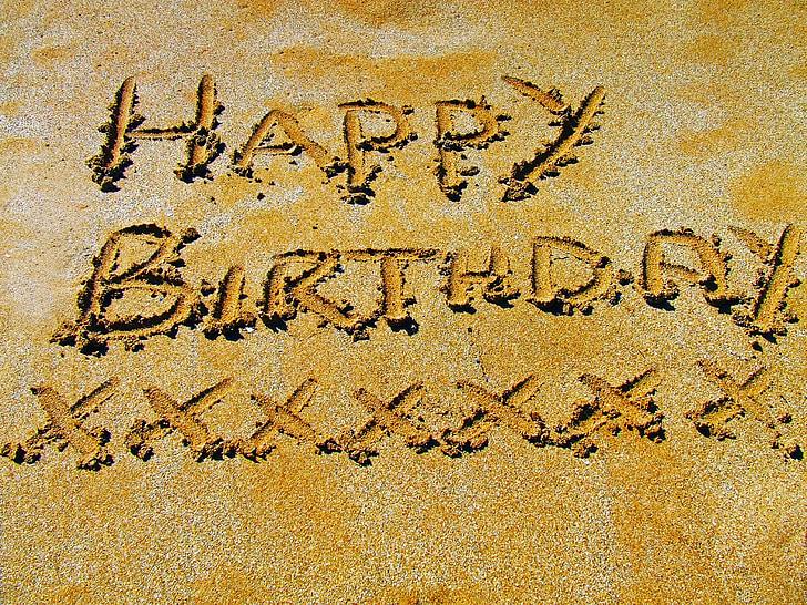 daudz laimes dzimšanas dienā, svinēt, laimīgs, dzimšanas diena, svinības, persona, krāsains