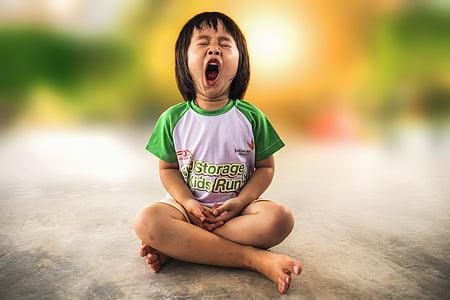 yawning, little girl, yawn, child, girl, little, childhood