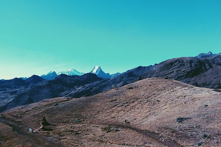 adventure, landscape, mountain range, mountains