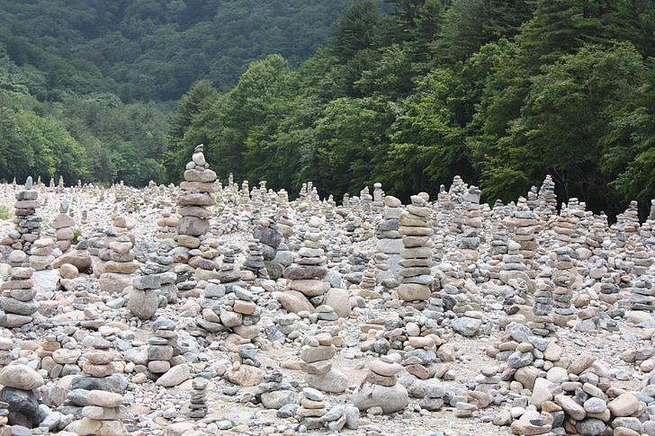 baekdamsa, stone tower, wish, prayer, by the river, stone