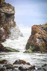 Splash, köpük, okyanus, Deniz, Sahil, su, doğa