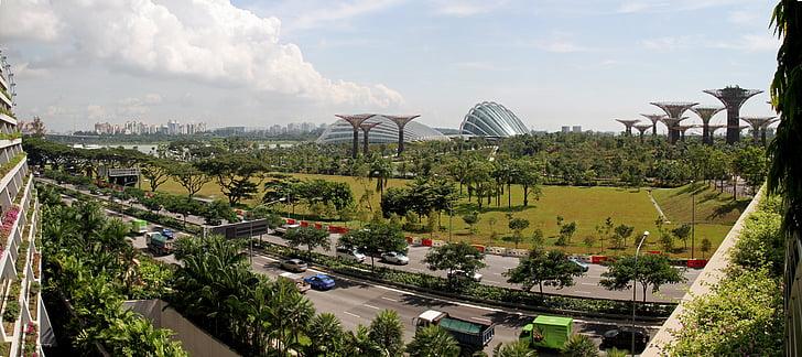 Singapore, tuinen langs de baai, Botanische, Park, Toerisme
