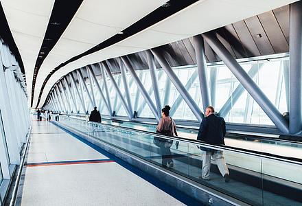 Sân bay, đi du lịch, chuyến đi, giao thông vận tải, mọi người, đi bộ, kiến trúc