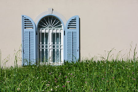window, grass, house, green, wall, architecture