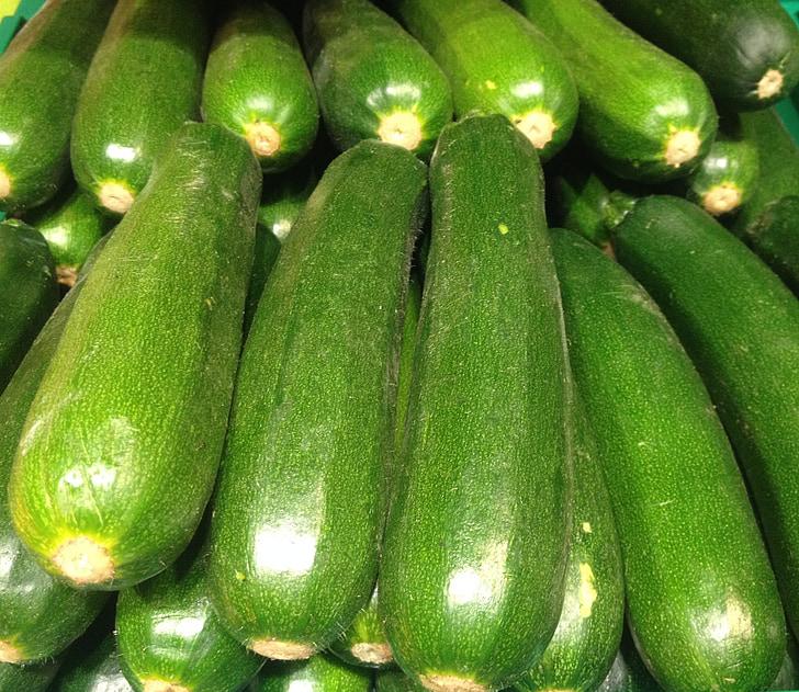 cukinija, žalia, daržovės, derliaus, Bio