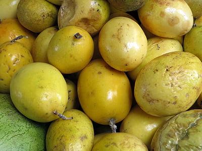 tutku meyve, egzotik meyveler, Ekvador, Pazar, renkli