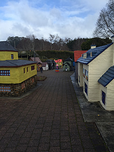 village, miniature, tasmazia, small, house, toy, small house