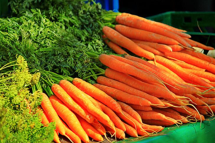 sárgarépa, zöldség, egészséges, gyökérzöldségek, vitaminok, enni, élelmiszer