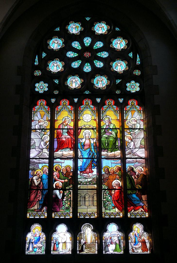 l'església, Vitrall, vidrieres, Sant cast le guildo, França