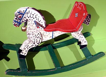 rocking horse, child, children, play, toys, children's, wood