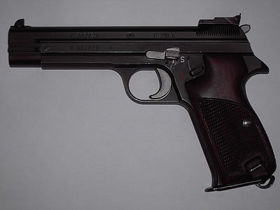 pisztoly, fegyver, kézi fegyvert, pisztoly, veszélyes, lő