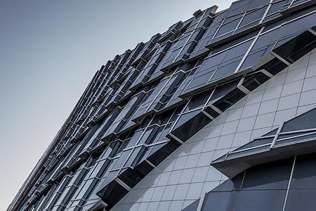Architektura, moderní, Santiago, sklo, moderní architektura, Muzeum