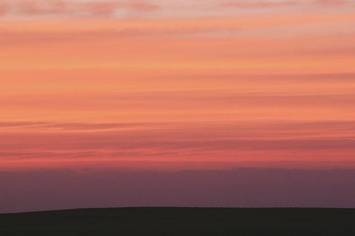 залез, здрач, небе, Ориндж, оранжев цвят, природата, scenics