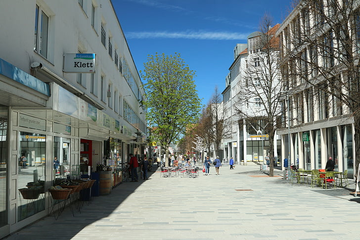 Böblingen, pilsēta, pilsētas skatu, pilsēta, Baden württemberg, iepirkšanās iela, gājēju zona