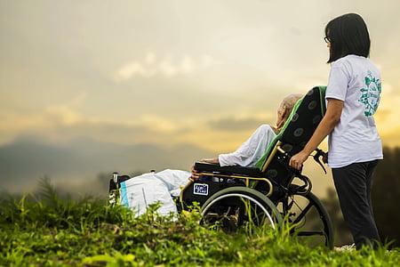 l'hospici, l'atenció, pacient, gent gran, vell, cura d'avis, suport