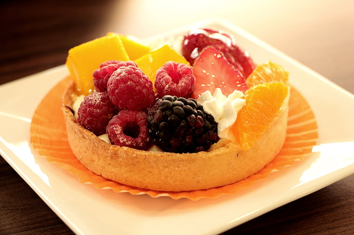 sobremesa, bagas, torta de frutas, sobremesa de frutas, comida, alimentos doces, comida e bebida