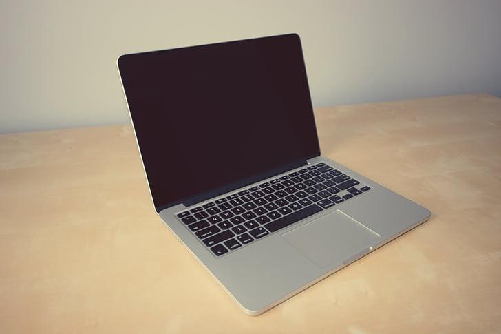 MacBook, Pro, Tabuľka, laptop, počítač, Apple, kancelária