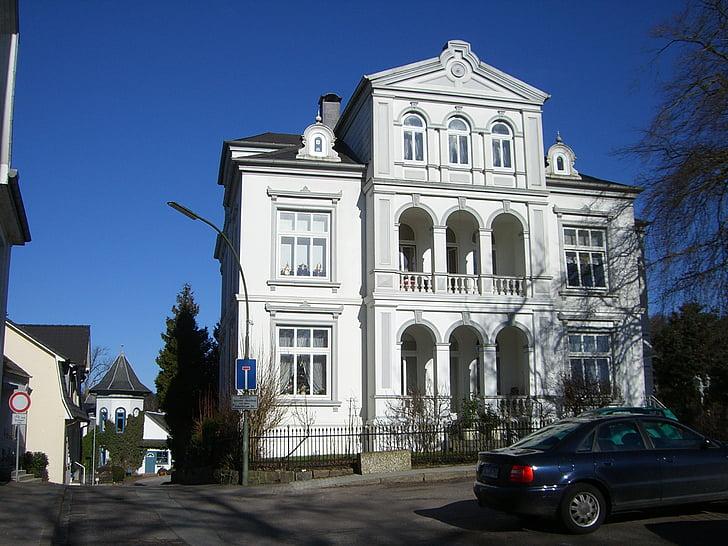 Glücksburg, Hindenburg plass, Østersjøen, Spa, arkitektur, Street