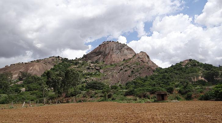 altell, Roca, granit, Dècan, Karnataka, l'Índia
